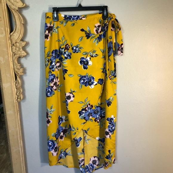 Midnight Sky Dresses & Skirts - Midnight Sky partial wrap skirt!